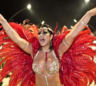 Sambodromo Carnaval Garotas Rio De Janeiro Brasil Mujeres Samba
