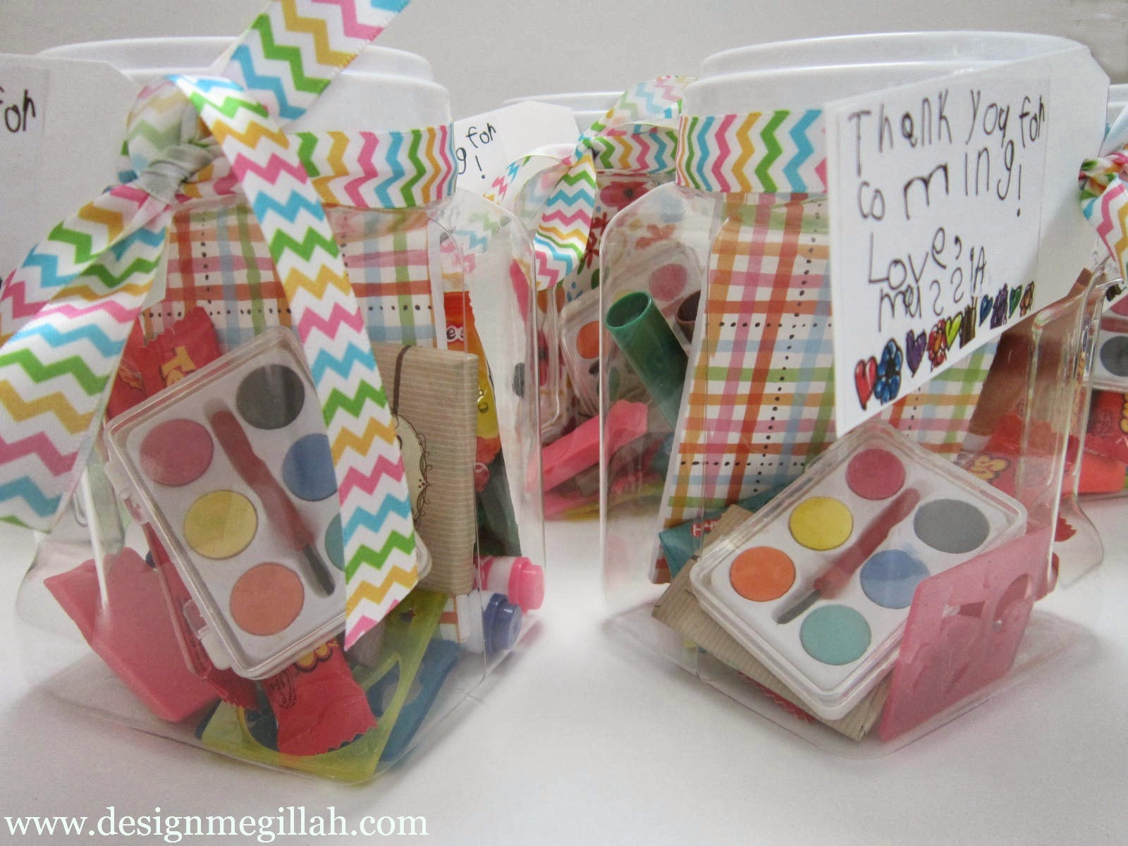 Design Megillah Favors For An Art Birthday Party