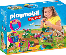 PLAYMOBIL- Play Map Paseo con Ponis Juguete