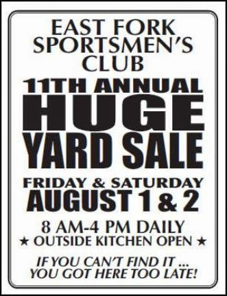 8-1/2 East Fork Annual Yard Sale