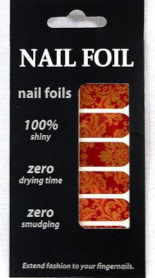 OMG Nail Foil Strips in Floral (Red/Gold) Review