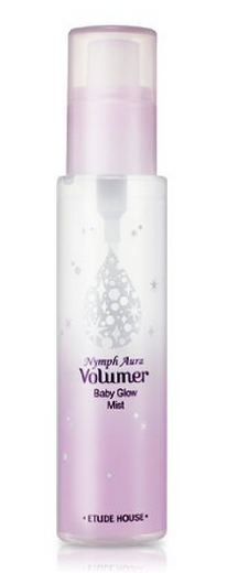 etude house nymph aura volumer baby glow mist makes skin glow and dewy