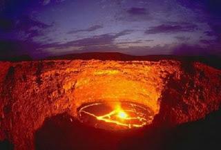 Un lago de fuego, en Etiopia