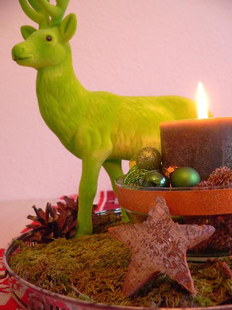 Weihnachten Hirsch Kerze