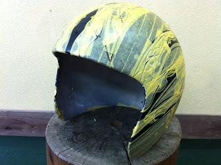 1139082924 - カスタムペイント工程  ジェットヘルメット スカル クリアースピニング