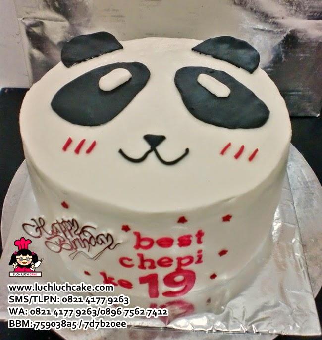 Kue Tart Kepala Panda Daerah Surabaya - Sidoarjo