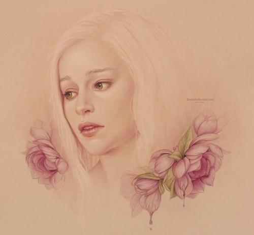 03-Daenerys-Targaryen-GoT-Jennifer-Healy-Traditional-Art-Color-Pencil-Drawings-www-designstack-co