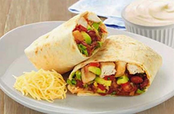 Burritos De Pollo Tejanos