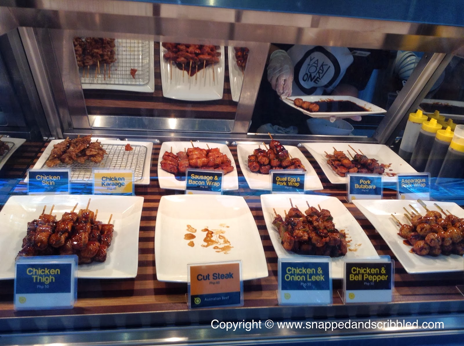 Yakitori one at sm aura snapped and scribbled for Aura global cuisine