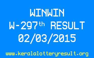 WINWIN W 297 Lottery Result 2-3-2015