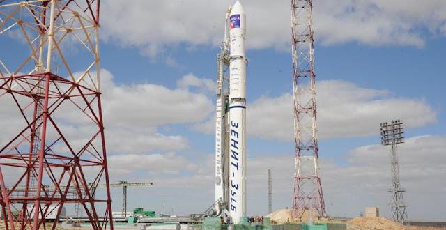 Zenit-3SLB rocket launch with Amos-4 satellite. Credit: orbiter-forum.com