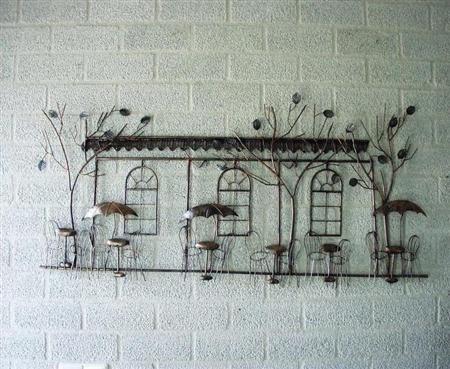 Wanddecoratie terras