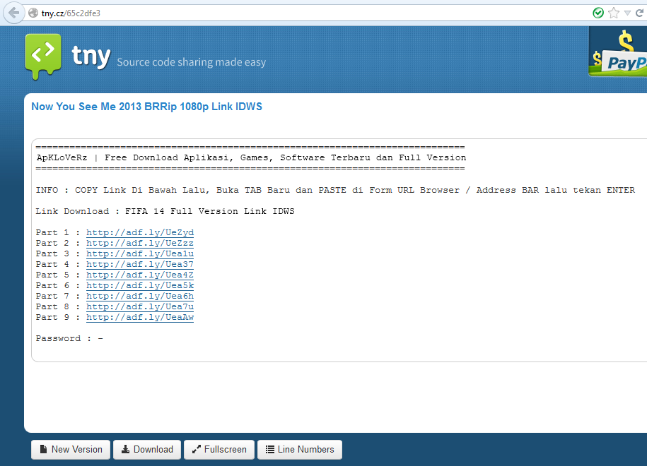 Cara Mendownload File dari Situs Tinypaste (tny.cz)