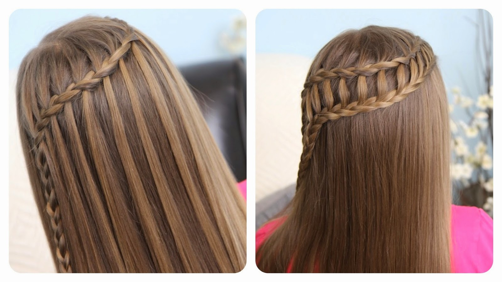 WATERFALL BRAID TWO TYPES
