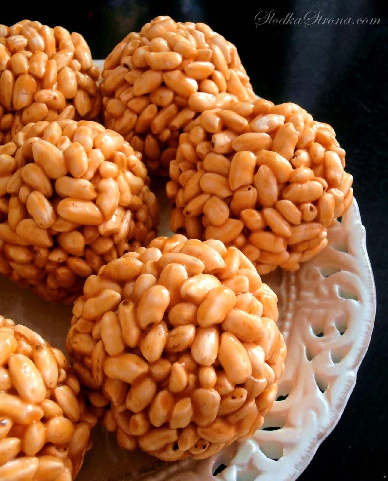 Szyszki z Ryżu Preparowanego (Dmuchanego) - Przepis - Słodka Strona