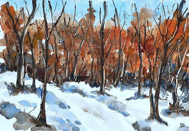 Bluoltremare paesaggi invernali 5 winter landscapes 5 for Disegni paesaggio invernale