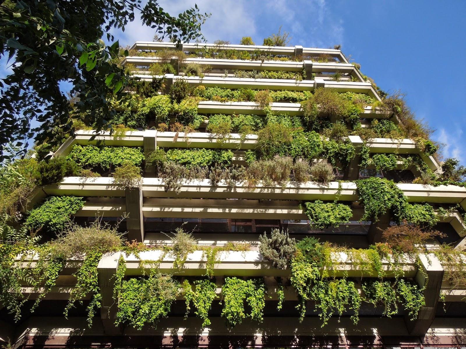 El primer jard n vertical en barcelona bot nic serrat for Edificios con jardines verticales
