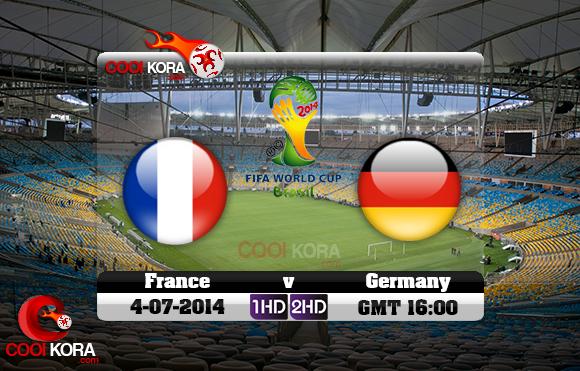 مشاهدة مباراة ألمانيا وفرنسا بث مباشر 4-7-2014 علي بي أن سبورت كأس العالم Germany vs France