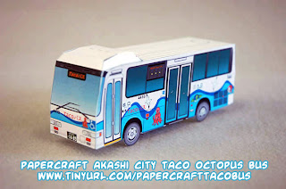 papercraft Akashi City taco octopus bus: