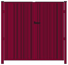 """Схема ворот модульных ограждений из профнастила Grandline """"Премиум"""". Фото 14"""