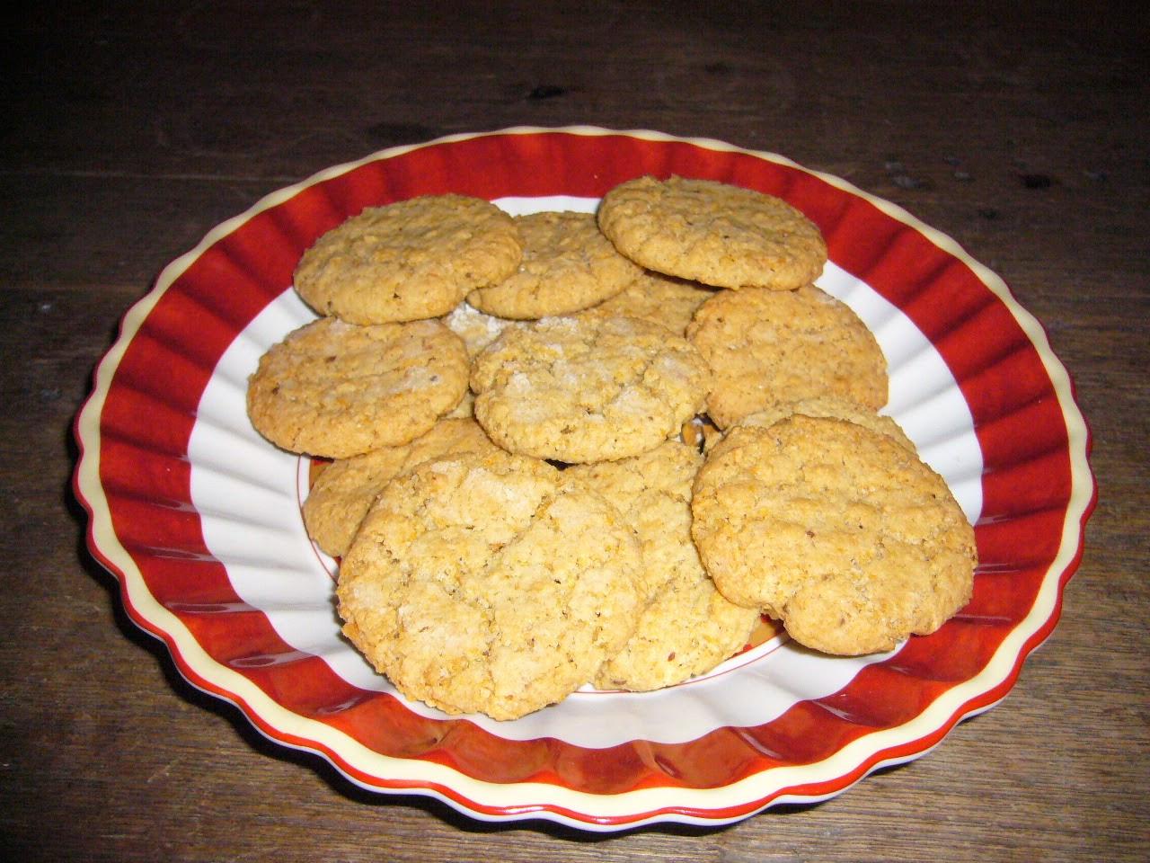 Galletas de avena con chocolate, frambuesa y coco