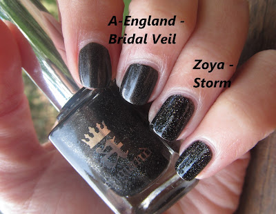 A-England Bridal Veil Vs. Zoya Storm