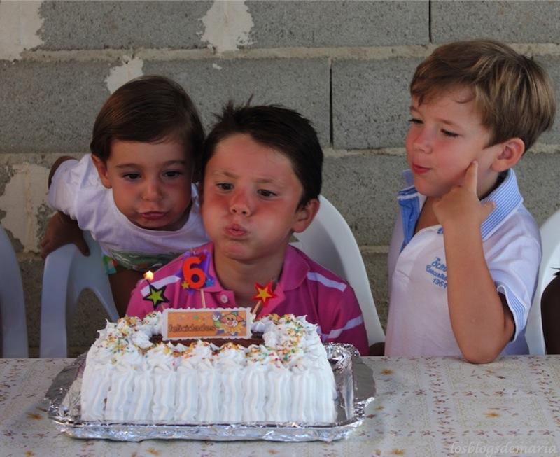 Tarta de cumpleaños merengue y crema
