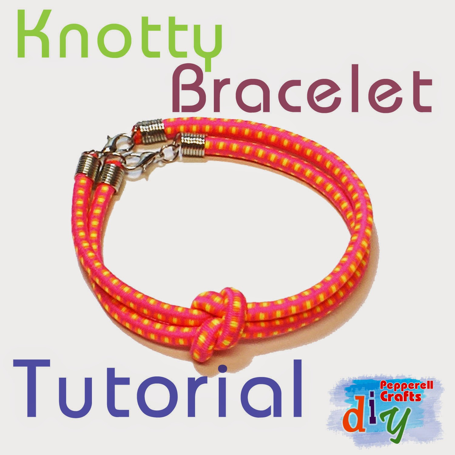 Knotty Bracelet Tutorial from Pepperell Braiding Company