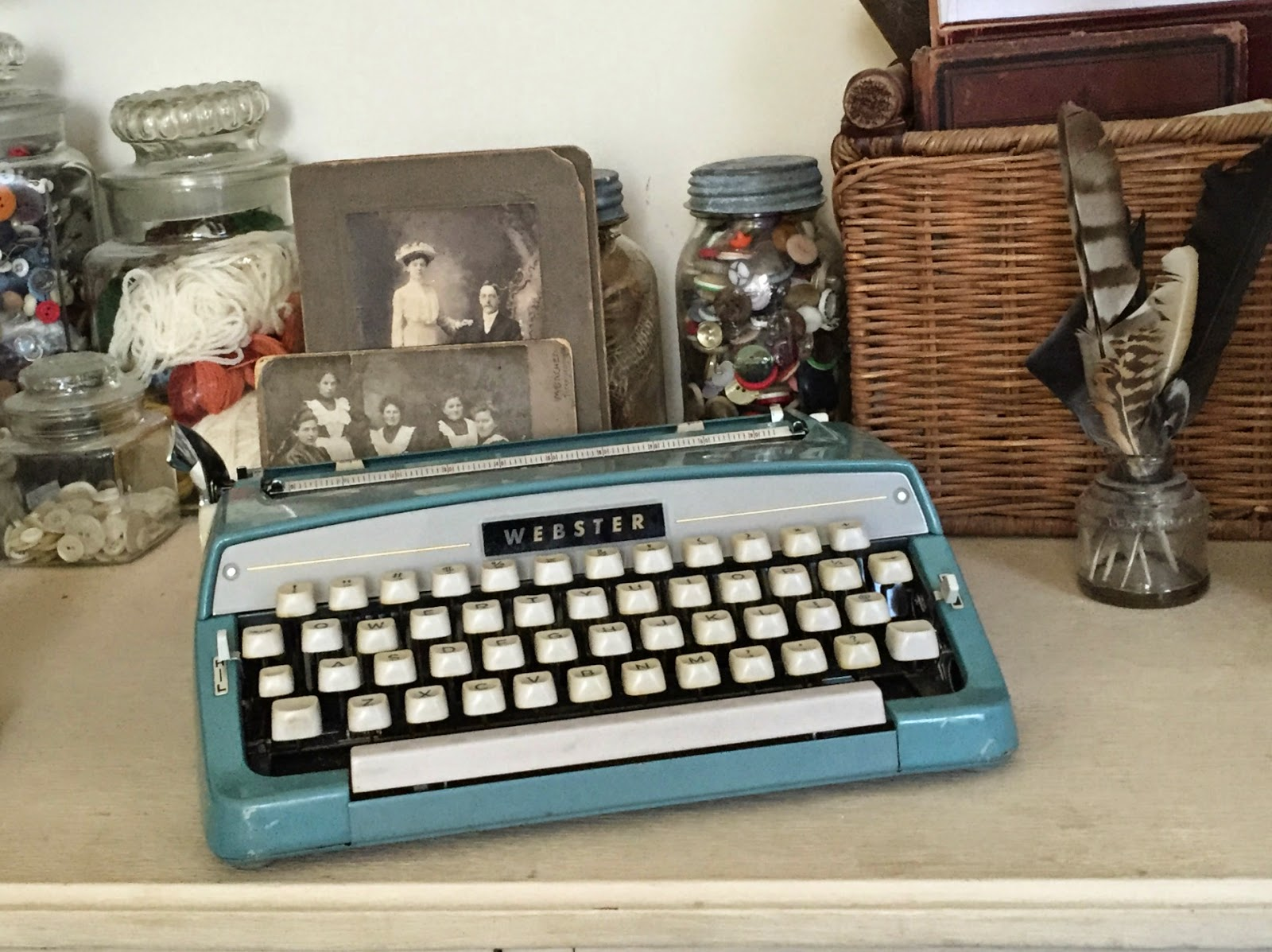 vintage Webster typewriter