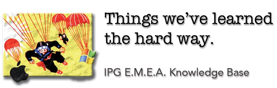 IPG EMEA Deployment Knowledge Base