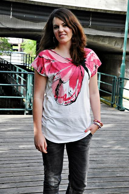 Outift: Shirt Stefanel, Jeans Zara