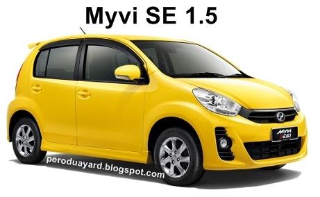 Perodua Myvi SE 1500cc ( Auto & Manual )