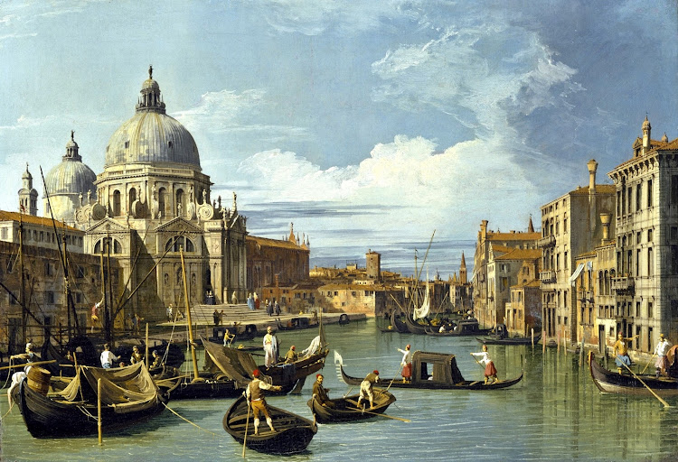 Canaletto - The Entrance to the Grand Canal in Venice