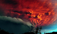 Vulcão erupção no Chile