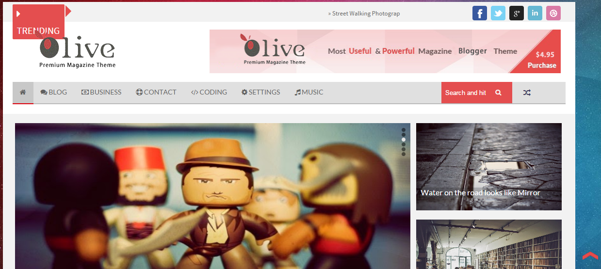 Download Olive Responsive Free Blogger Template