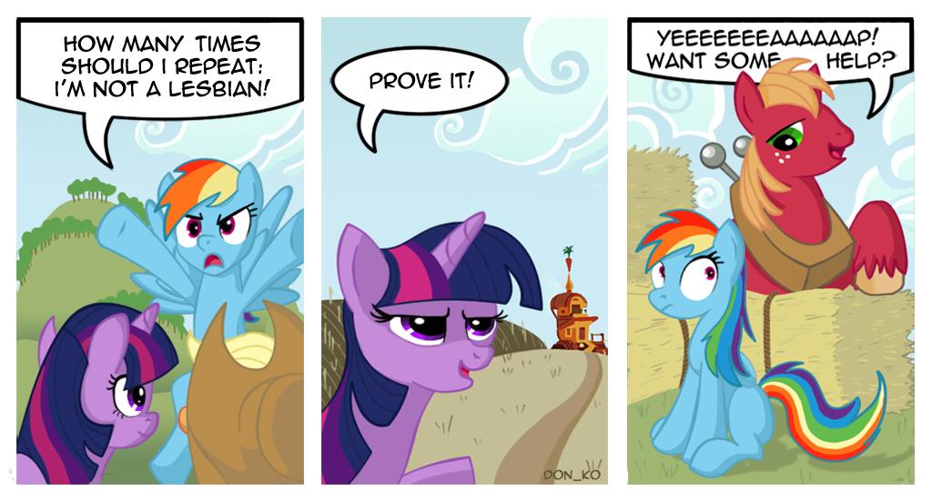 Rainbow Dash And Twilight Sparkle R34 Comic: dash is not a lesbian