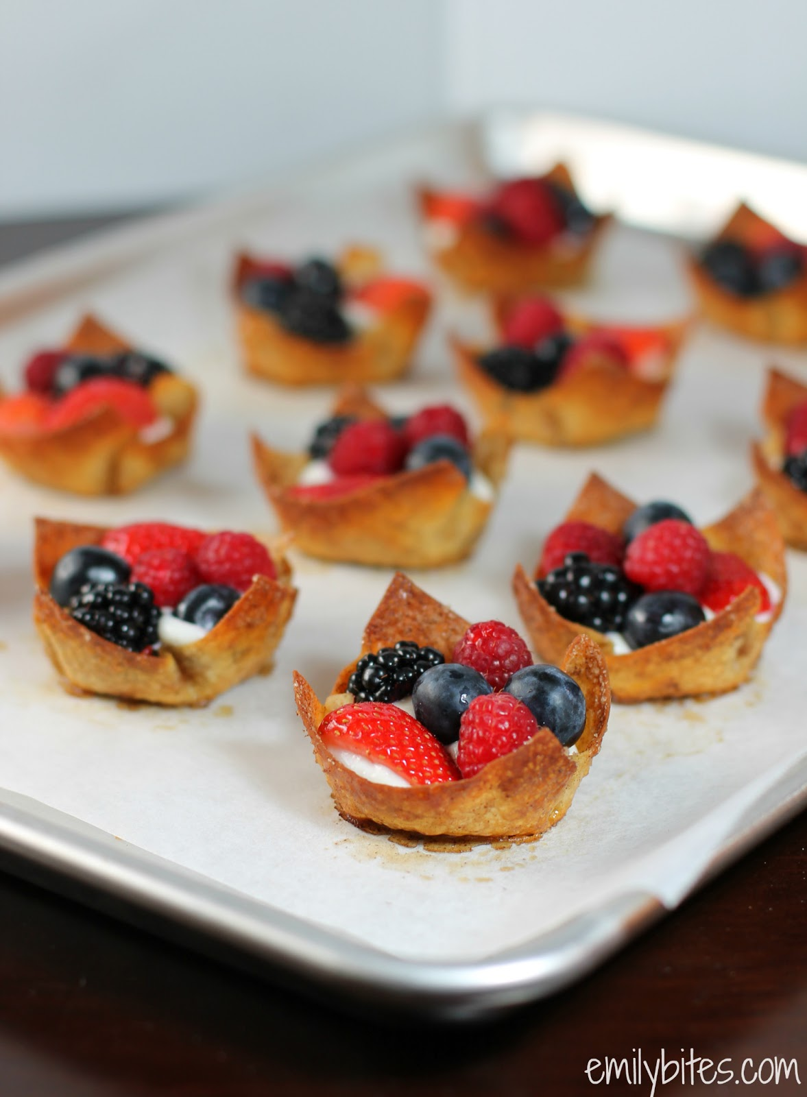 Berries & Cream Cinnamon Dessert Cups - Emily Bites