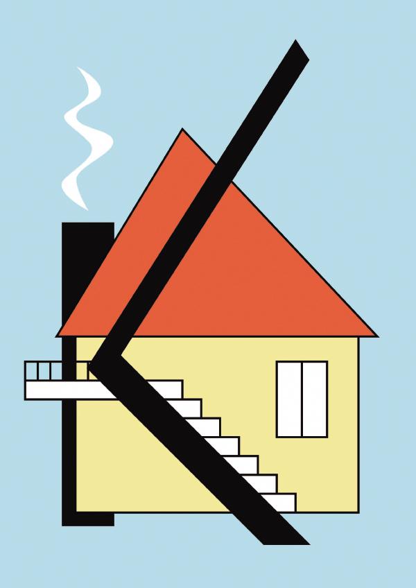 К като Къща colorful letter illustration