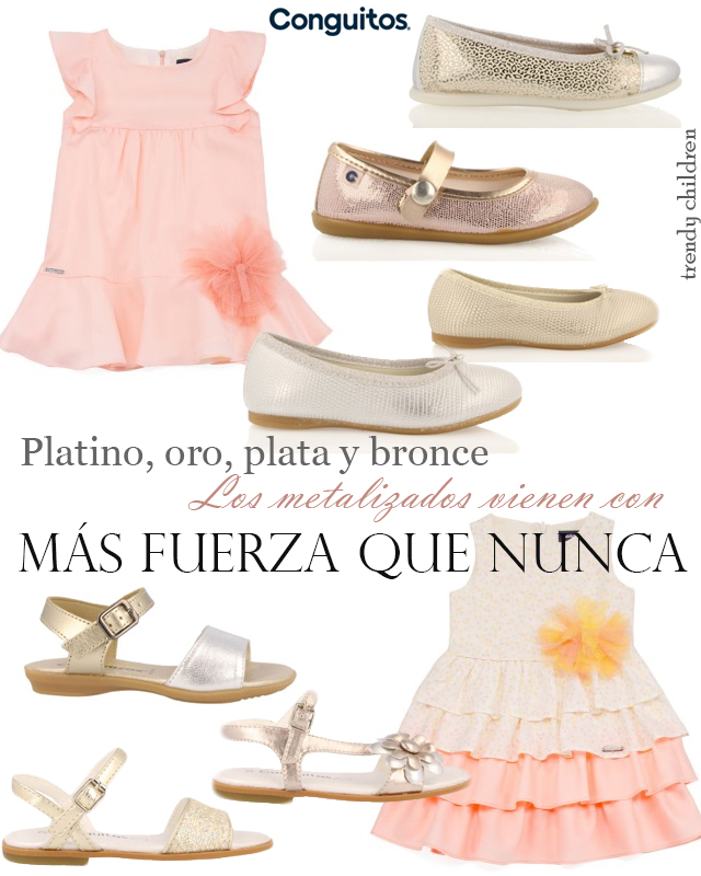 calzado metalizado niña primavera verano 2015 conguitos
