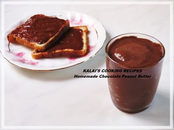 Simple Home-made Creamy Peanut and Chocolate Butter Spread Recipe