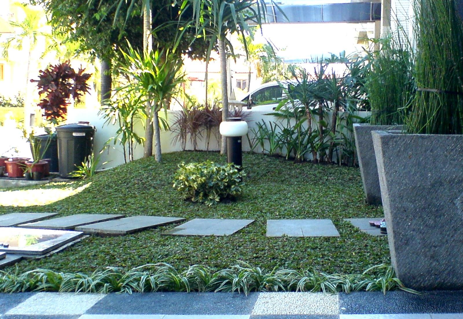 menyelaraskan rumah dengan taman minimalis mahkota garden