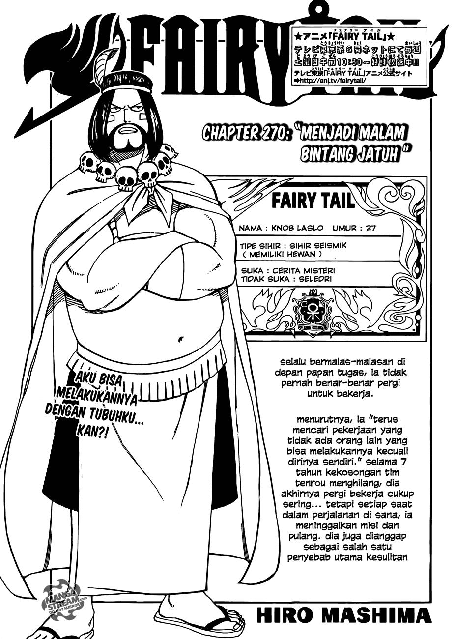 Page01 Fairy Tail 270   Menjadi Malam Bintang bintang