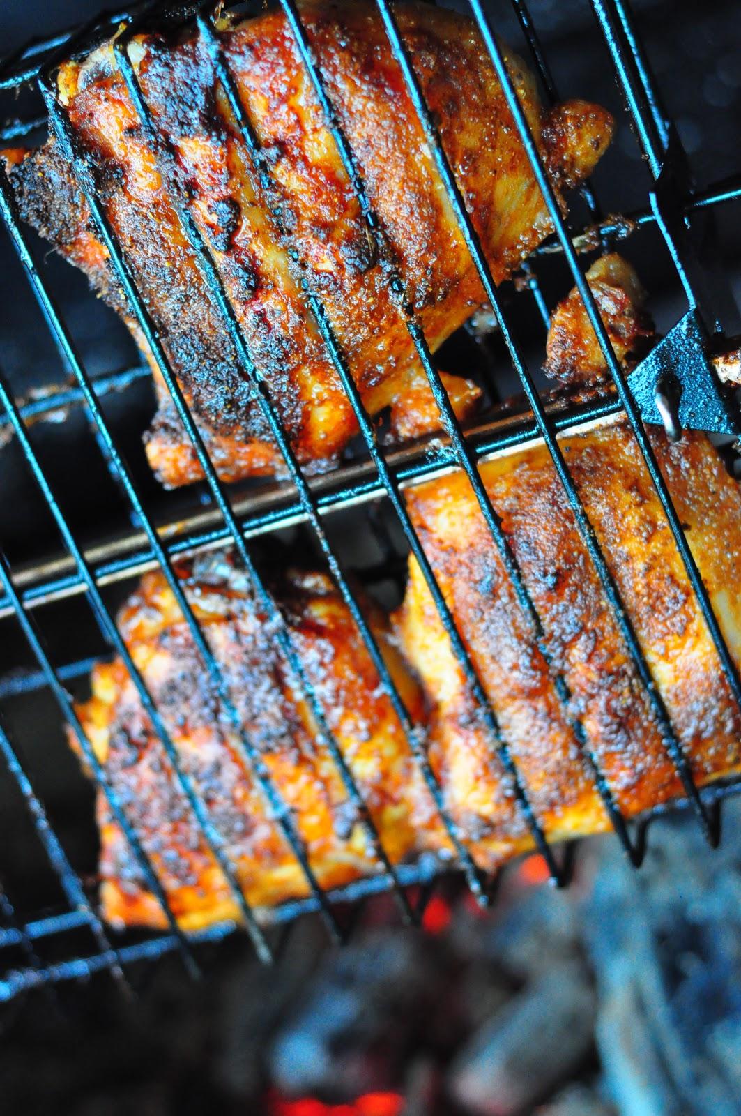 L 39 escale poulet au charbon de bois - Accompagnement sardines grillees barbecue ...