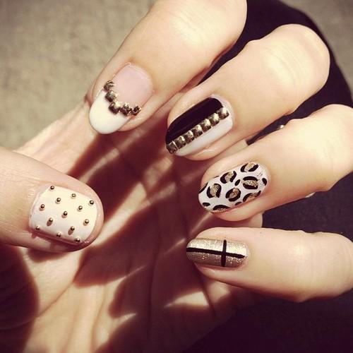 nail and art Decoração Leopard