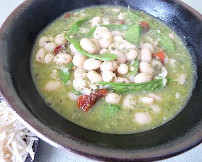 Bean and Pesto Soup