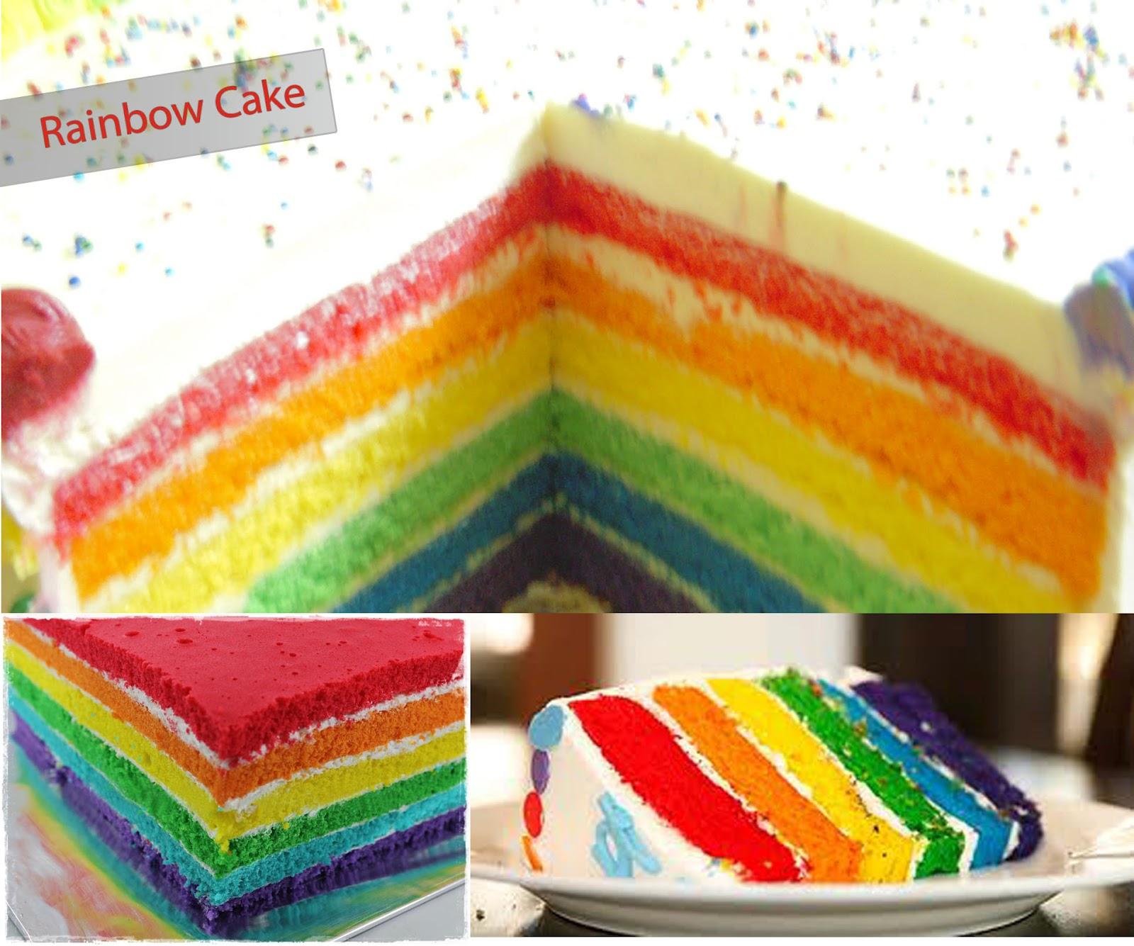 Rainbow Cake Resep : Rainbow Sponge Cake Butter Cream Recipes