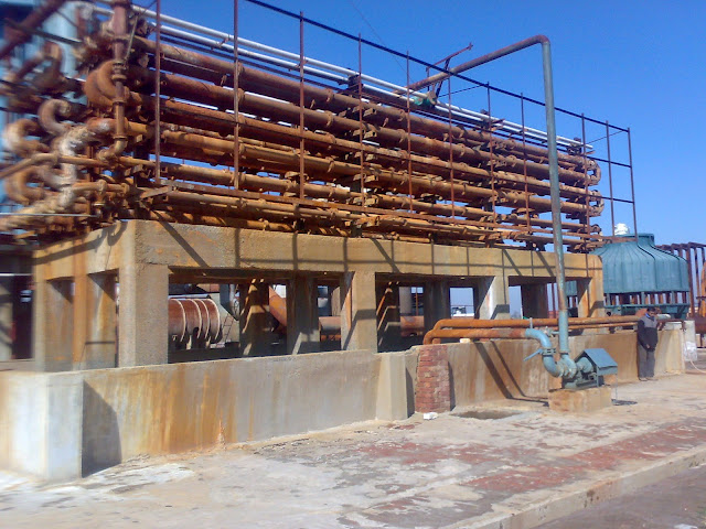 Sulfuric Acid Plant in Pakistan, Zimindar Chemical and Fertilizer (PVT) Limited, image by irfan, Acid cooling pipes/tower