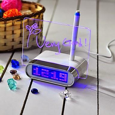 Reloj Despertador para dejar mensajes LED