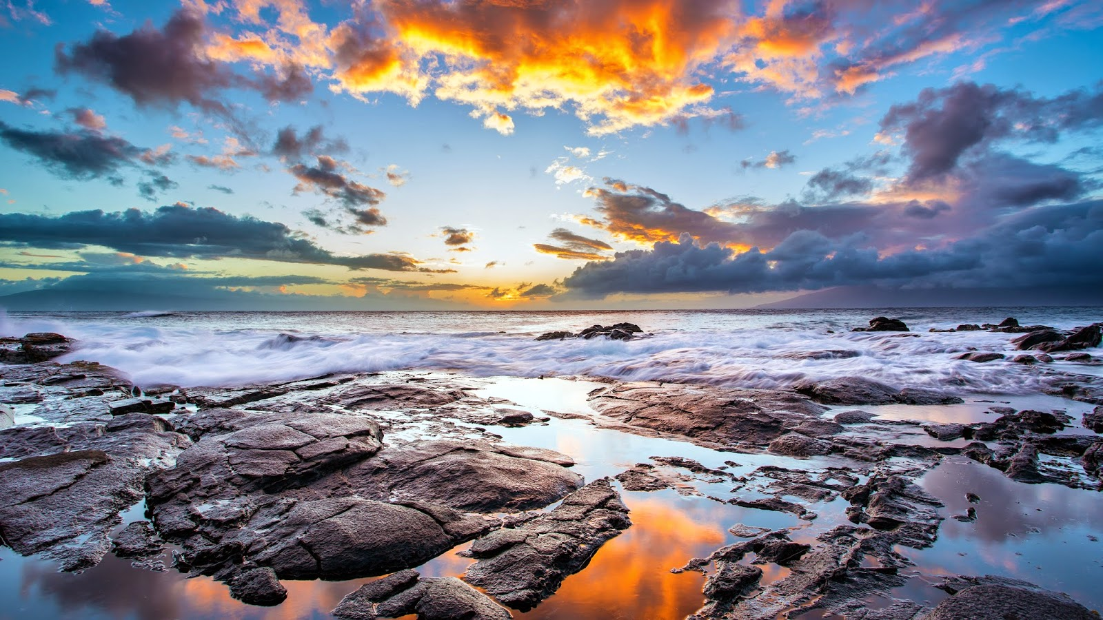 Sunset Maui Hawaiian Island HD desktop wallpaper High  - sunset maui hawaiian island wallpapers