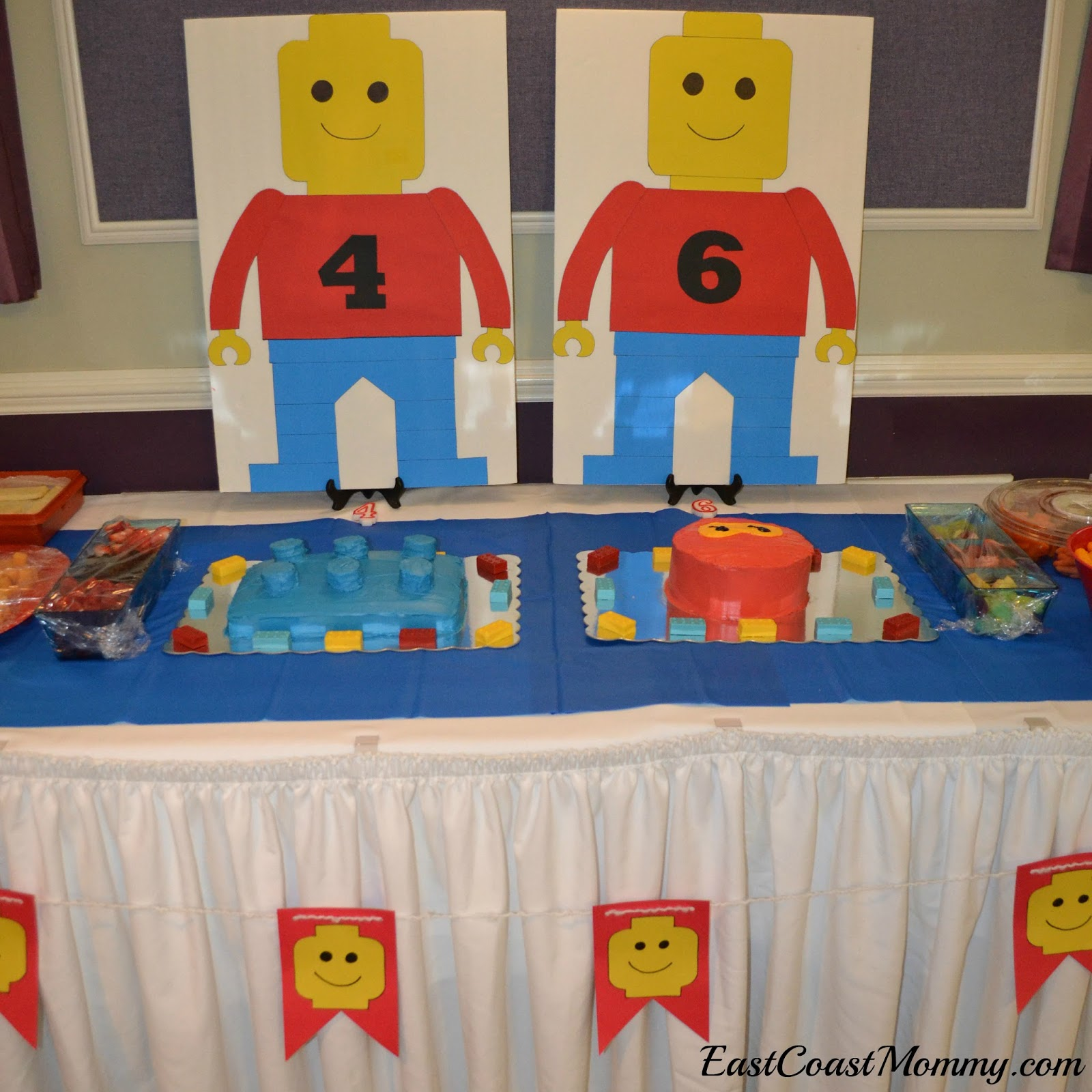 Diy lego party decoration ideas for Decoration lego
